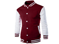Men's Baseball Jacket - Red Price in Pakistan