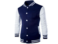 Baseball Jacket Navy Blue in Pakistan