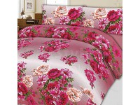 Pink Flower King Size Bed Sheet in Pakistan