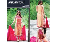 Amna Ismail Semi Stitched Linen Suit in Pakistan