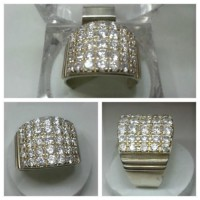 35 Real Zircon Stone In Silver 925 Ring For Him in Pakistan