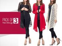 Pack of 3  Net Shrugs in Pakistan