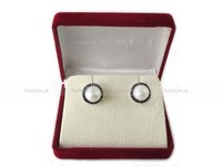 Pearl Zircon Stone Studded Silver Earrgings in Pakistan
