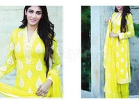 Amna Ismail Embroidered Chiffon Dress in Pakistan