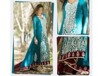 Designer Embroidered Chiffon Party Dress in Pakistan