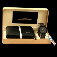 Gift Pack of Branded Leather Wallet + Rado Watch in Pakistan