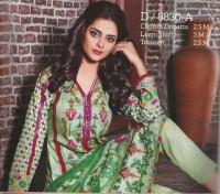 Designer Printed Lawn Suits with Chiffon Dupatta in Pakistan