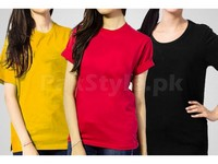 3 Women's T-Shirts Bundle Pack in Pakistan