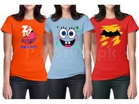 3 Women's Printed T-Shirts in Pakistan