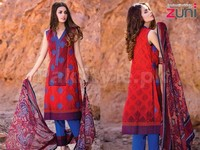 Zuni Embroidered Lawn Dress Price in Pakistan