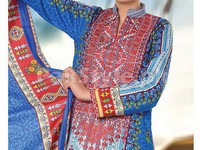 Designer Embroidered Lawn Dress VS-3A in Pakistan