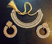 Antique White Pearl Jewelry Set  in Pakistan