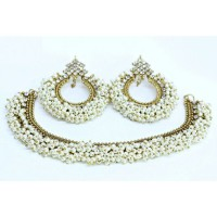 Antique Based Gajra Pearls Jewelry Set  in Pakistan
