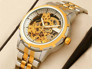 Men's Automatic Skeleton Two-Tone Watch Price in Pakistan