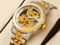 Rolex Skeleton Automatic Two-Tone Wrist Watch in Pakistan
