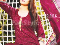 Rashid Classic Lawn with Lawn Dupatta 243-C in Pakistan