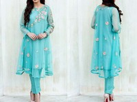 Designer Chiffon Embroidered Dress in Pakistan