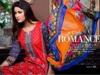 MTF Embroidered Lawn with Chiffon Dupatta 8-A in Pakistan