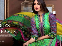 MTF Embroidered Lawn with Chiffon Dupatta 8-B Price in Pakistan