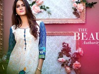 MTF Embroidered Lawn with Chiffon Dupatta 12-B Price in Pakistan