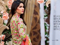 MTF Embroidered Lawn with Chiffon Dupatta 13-A in Pakistan