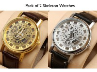 Pack of 2 Rolex Skeleton Watches in Pakistan