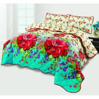 Double 3D PC Bed Sheet (PC-37) in Pakistan