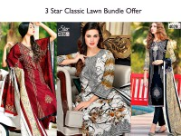 3 Star Classic Lawn Suits in Pakistan