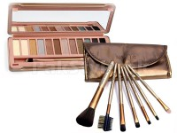 Combo of Naked 8 Eyeshadow Palette + 7 Pcs Brush in Pakistan