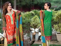 MTF Embroidered Lawn with Chiffon Dupatta 15-B Price in Pakistan