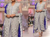 Designer Embroidered Chiffon Bridal Dress in Pakistan
