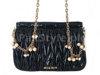Miu Miu Glossy Leather Crossbody Bag in Pakistan