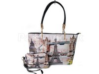 Eiffel Tower Digital Print Handbag in Pakistan