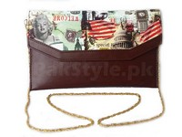 Digital Print Crossbody Clutch in Pakistan
