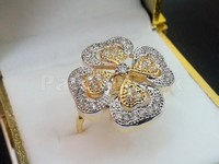 Indian CZ Flower Ring in Pakistan