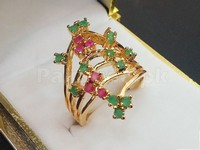 Elegant Multicolor Stone Ring in Pakistan