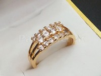 Elegant Gold Plated Zirconia Ring + 1 Free Ring in Pakistan