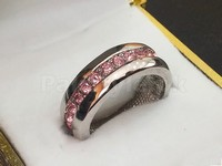 Silver Pink Gemstones Ring in Pakistan
