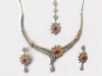 2 Tone AD Jewellery Set in Pakistan