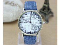 Vintage Denim Newspaper Watch in Pakistan