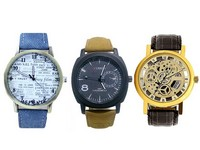Pack of 3 Men's Watches in Pakistan