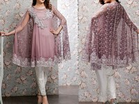 Butterfly Style Embroidered Chiffon Dress in Pakistan