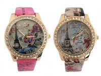 Pack of 2 Eiffel Tower Girls Watches in Pakistan