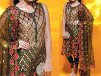 Designer Embroidered Chiffon Suit in Pakistan