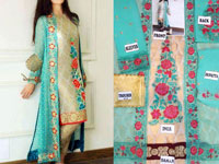 Gown Style Chiffon Dress with Jamawar Inner in Pakistan