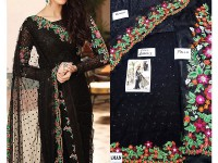 Designer Chiffon Saree Black in Pakistan