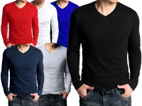 6 V-Neck Full Sleeves T-Shirts Price in Pakistan