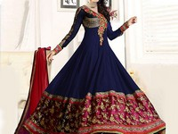 Indian Embroidered Chiffon Anarkali Frock in Pakistan