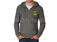 Batman Logo Zip Hoodie - Charcoal in Pakistan