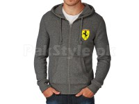 Ferrari Logo Zip Hoodie - Charcoal in Pakistan